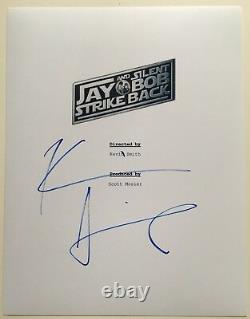 Kevin Smith Signed Jay and Silent Bob Strike Back Movie Script Screenplay