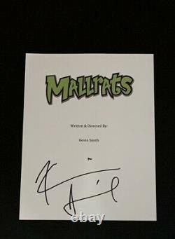 Kevin Smith Signed Mallrats Movie Script Silent Bob Autographed Proof Psa Coa