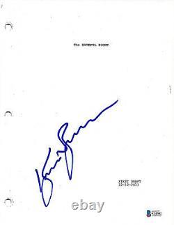 Kurt Russell Signed'the Hateful Eight' Movie Script Screenplay Beckett Coa Bas