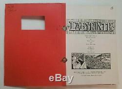 LABYRINTH / Terry Jones & Jim Henson 1985 Screenplay, DAVID BOWIE fantasy film