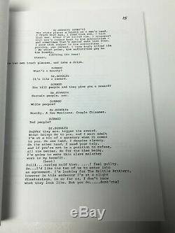 Leonardo DiCaprio Signed'Django Unchained' Full Movie Script Calvin Candie BAS