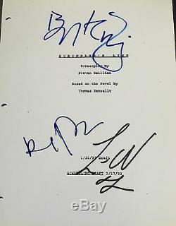 Liam Neeson Kingsley & Fiennes Signed Autograph Schindler's List Movie Script