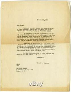 Luis Bunuel ROBINSON CRUSOE Original screenplay for the 1954 film Signed #121979