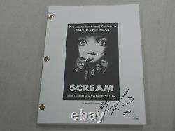 MATTHEW LILLARD Signed SCREAM Movie SCRIPT Stu Ghostface Autograph JSA COA