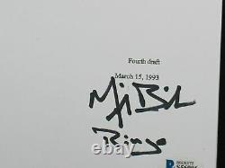 MICHAEL BIEHN Signed TOMBSTONE Movie SCRIPT Autograph BECKETT BAS COA