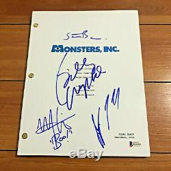 MONSTERS INC SIGNED MOVIE SCRIPT BY 4 CAST / BILLY CRYSTAL STEVE BUSCEMI with COA
