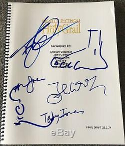 MONTY PYTHON FULL CAST SIGNED AUTOGRAPH HOLY GRAIL RARE MOVIE SCRIPT With SKETCH