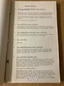 MORNING DEPARTURE 1950 John Mills Original 1949 shooting film script