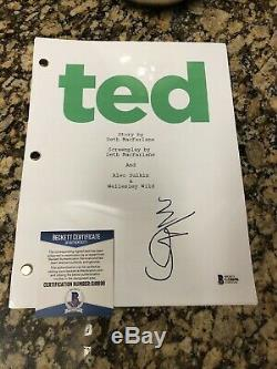 Mark Wahlberg original signed Ted Movie Script Beckett COA BAS