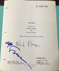 Martin Scorsese & Nicholas Pileggi Signed Autograph Goodfellas Full Movie Script