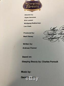 Mary Costa Signed Autographed Sleeping Beauty Full Movie Script Disney Aurora N