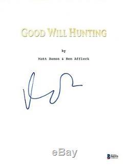 Matt Damon Signed Autograph GOOD WILL HUNTING Movie Script Beckett BAS COA
