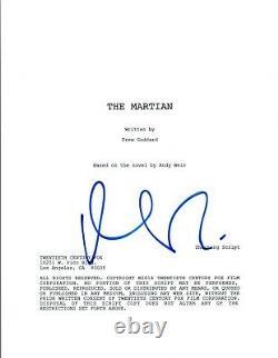 Matt Damon Signed Autographed THE MARTIAN Full Movie Script COA AB
