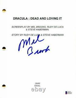 Mel Brooks Signed Autograph Dracula Dead And Loving It Full Movie Script