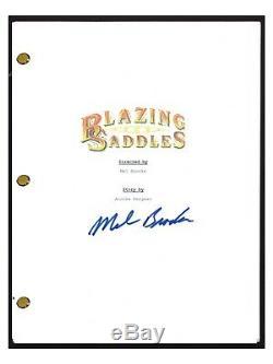 Mel Brooks Signed Autographed BLAZING SADDLES Movie Script Screenplay COA