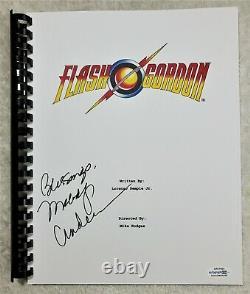 Melody Anderson Autograph Signed Flash Gordon Movie Script 1980 ACOA