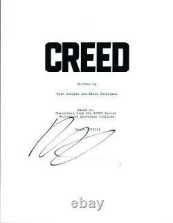 Michael B Jordan Signed Autographed CREED Movie Script COA AB