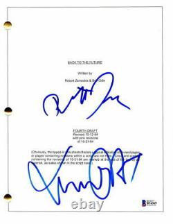 Michael J Fox & Robert Zemeckis Signed Autograph Back To The Future Movie Script