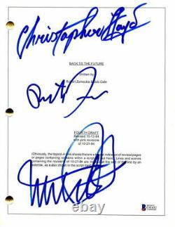 Michael J Fox, Zemeckis, Llyod Signed Autograph -back To The Future Movie Script