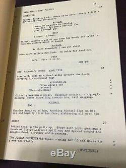 Michael Jordan Autographed Movie Space Jam Shooting Script Very Rare Psacoa Copy