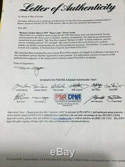 Michael Jordan Autographed(copy) Movie Space Jam Shooting Script Rare Psa Coa