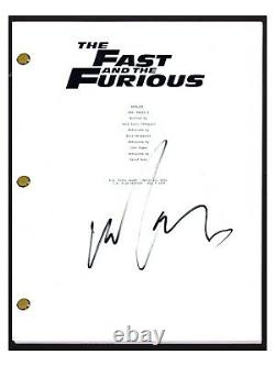 Michelle Rodriguez Signed Autographed THE FAST AND THE FURIOUS Movie Script COA