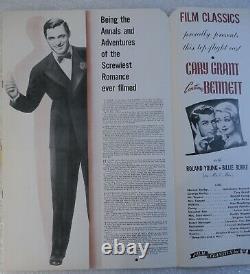 Movie Poster Press Campaign Promo Book Cary Grant Constance Bennett Topper