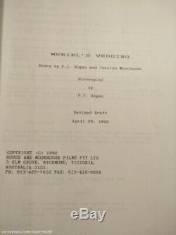 Muriel's Wedding 1994 Movie Genuine Production Used Film Script (Rev Draft 1992)