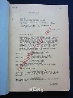 NOTHING BUT TROUBLE LAUREL & HARDY Film ORIGINAL SCRIPT