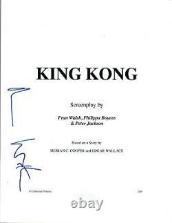 Naomi Watts Signed Autographed KING KONG Full Movie Script COA AB