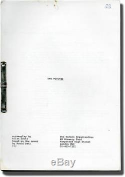 Nicholas Roeg THE WITCHES Original screenplay for the 1990 film 1988 #142808