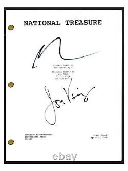 Nicolas Cage & Jon Voight Signed Autographed National Treasure Movie Script Coa