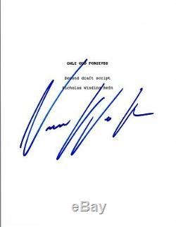 Nicolas Winding Refn Signed Autographed ONLY GOD FORGIVES Movie Script COA VD