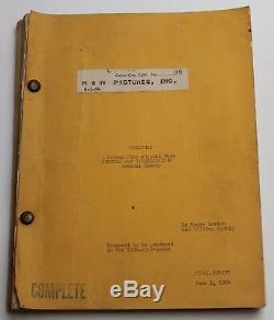 OKLAHOMA! / Sonya Levien 1954 Original Movie Script Screenplay, Fred Zinnemann