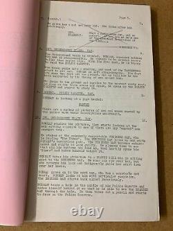 ON THE BEAT 1962 Norman Wisdom Original 1962 shooting film script