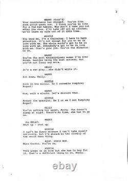 OPENING NIGHT rare movie screenplay by JOHN CASSAVETES