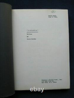 ORIGINAL FILM SCRIPT ARTHUR starring DUDLEY MOORE, LIZA MINNELLI, JOHN GIELGUD