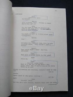 ORIGINAL FILM SCRIPT PIRANHA, Directed by JOE DANTE BRADFORD DILLMAN'S Copy