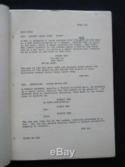 ORIGINAL ROBERT MITCHUM Film Script THE AMSTERDAM KILL BRADFORD DILLMAN'S Copy