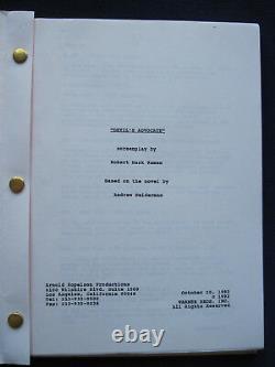 ORIGINAL SCRIPT for DEVIL'S ADVOCATE TAYLOR HACKFORD, KEANU REEVES, AL PACINO