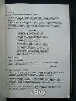 ORIGINAL SCRIPT for ED WOOD TIM BURTON Film with JOHNNY DEPP & MARTIN LANDAU