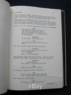 ORIGINAL SCRIPT for RAGING BULL by PAUL SCHRADER DE NIRO / SCORSESE Film