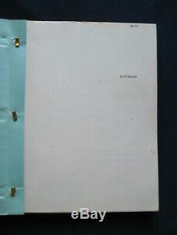 ORIGINAL SCRIPT for SUPERMAN Film by DAVID & LESLIE NEWMAN and ROBERT BENTON