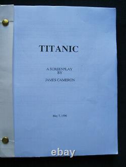 ORIGINAL SCRIPT for TITANIC by JAMES CAMERON OSCAR WINNING Film