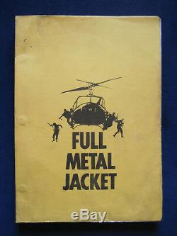 ORIGINAL WORKING DRAFT SCRIPT for STANLEY KUBRICK Film FULL METAL JACKET in Box