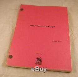 Omen 3 The Final Conflict January 3, 1980 Third Draft Movie Script Andrew Birkin