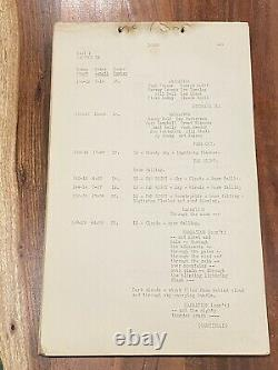 Original 1941 DUMBO Movie Script. Disney Production