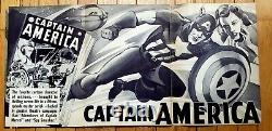 Original 1944 Captain America Movie Poster Republic Vintage Press Book Autry
