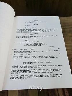 Original 1992 Jurassic Park Movie Script Michael Crighton Jurassic Park Prop