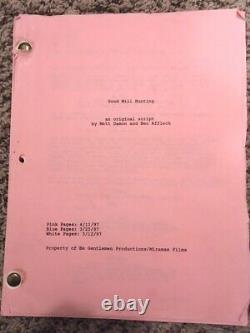 Original Film Script/Screenplay for Good Will Hunting 1997
